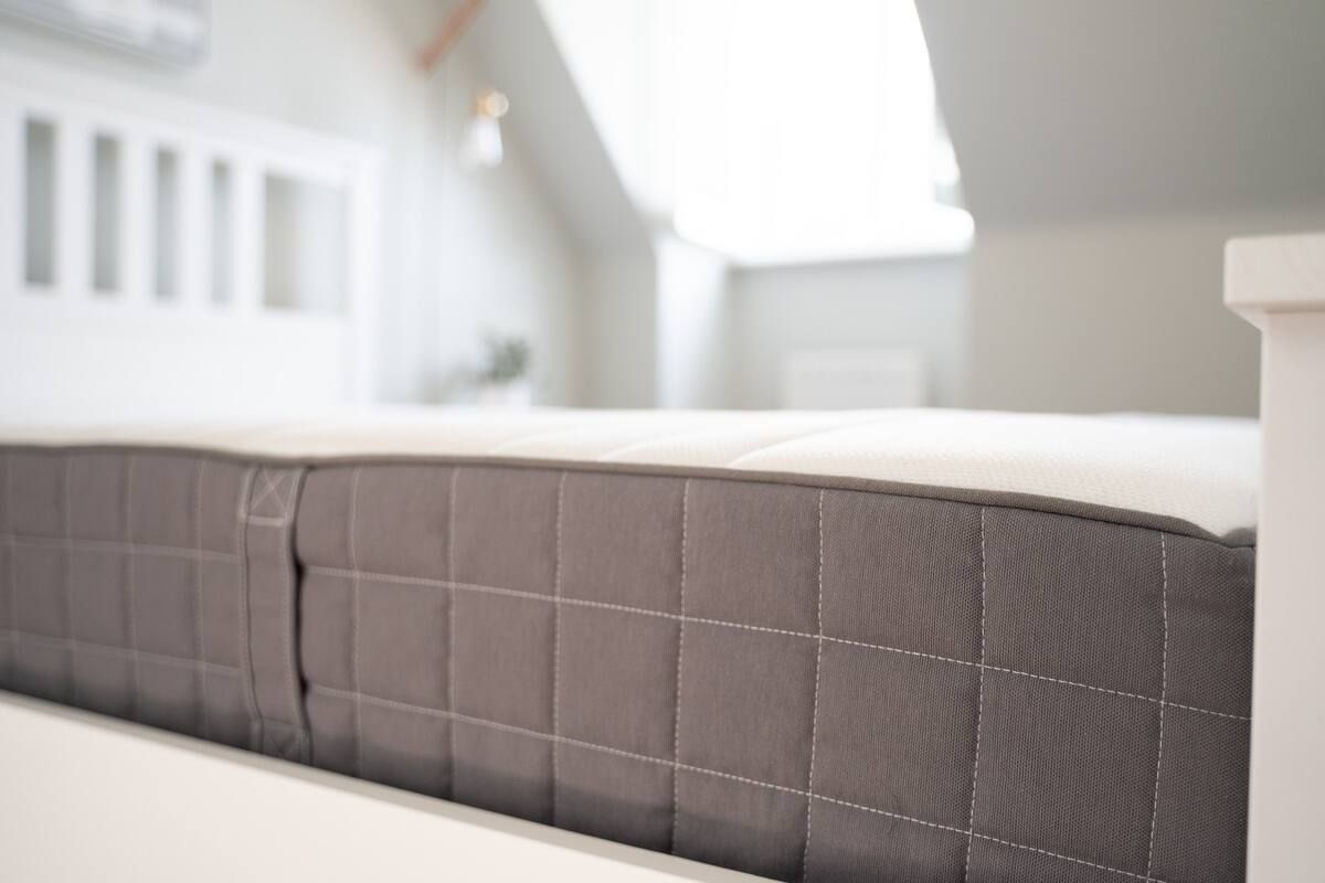 Mattress on a bed