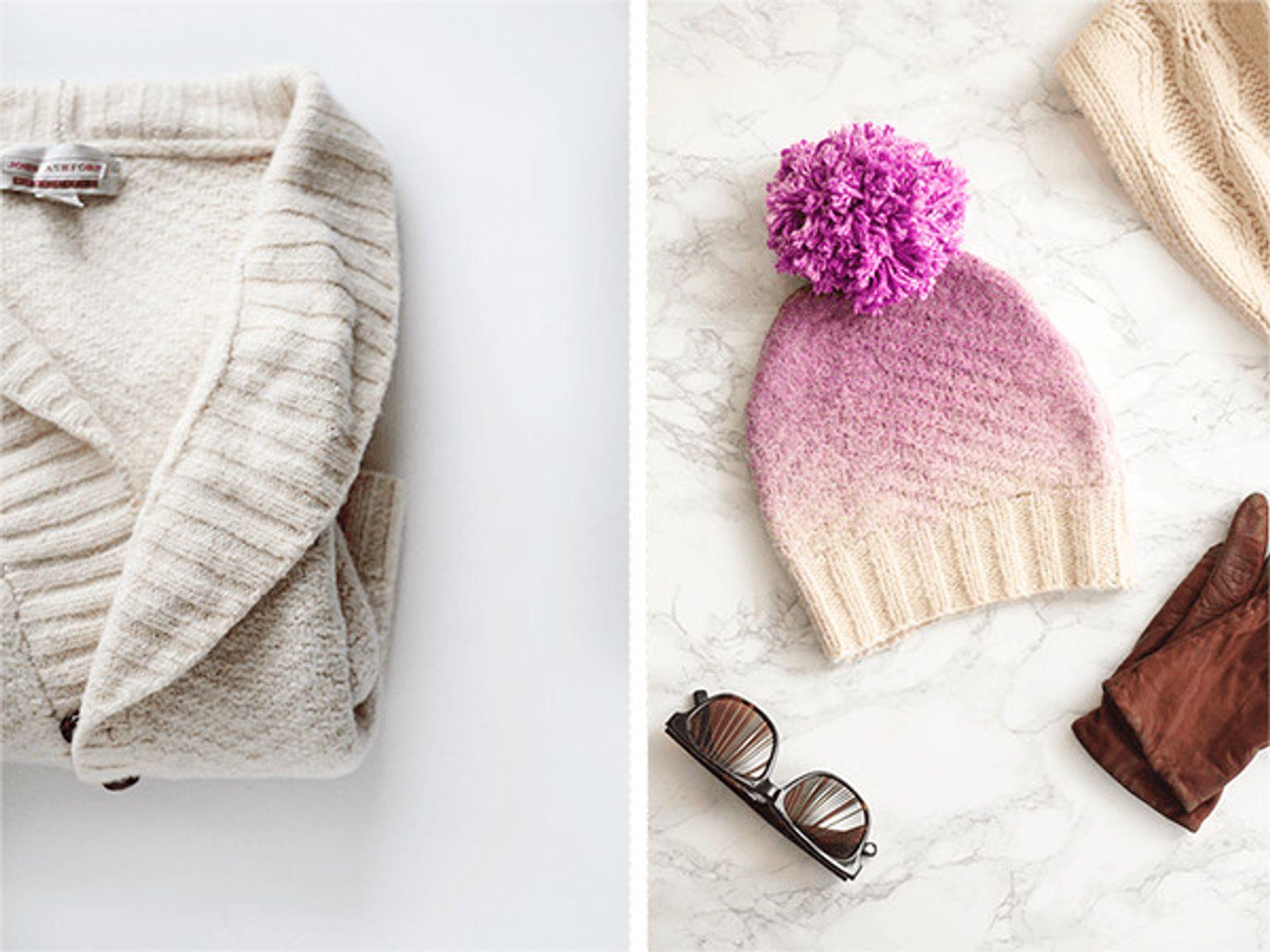 Tái chế áo len cũ thành mũ len