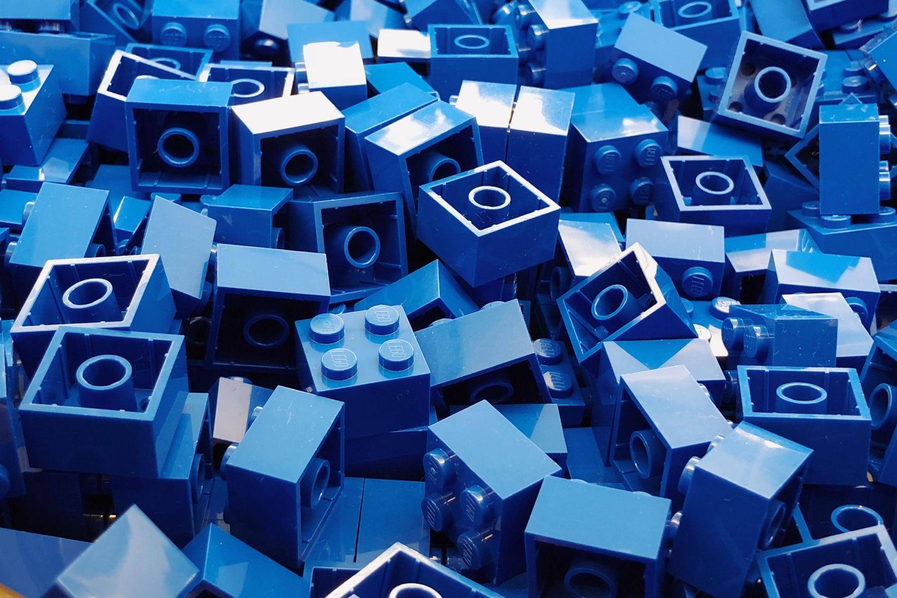 blaue Legosteine