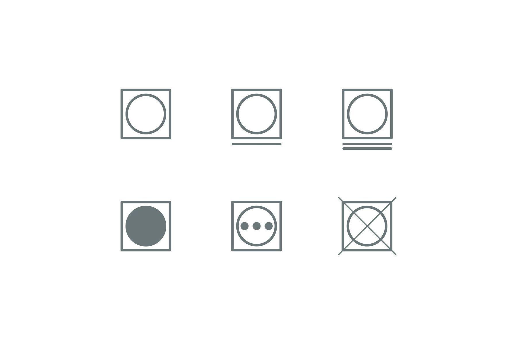 Tumble drying symbols