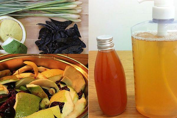 Cách làm nước rửa chén từ vỏ trái cây