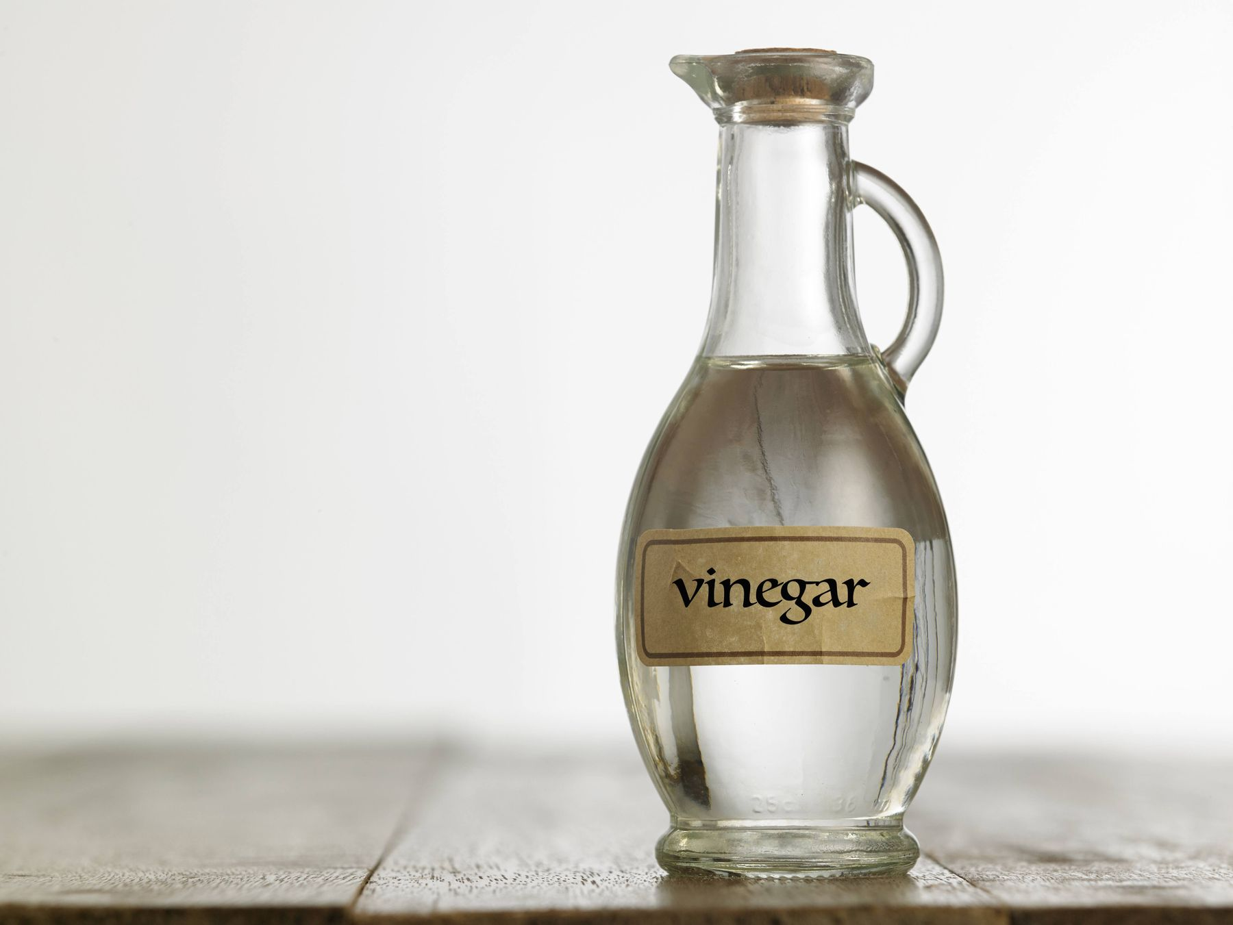 Vinegar and water for bathroom cleaning