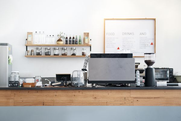 business shop coffee counter