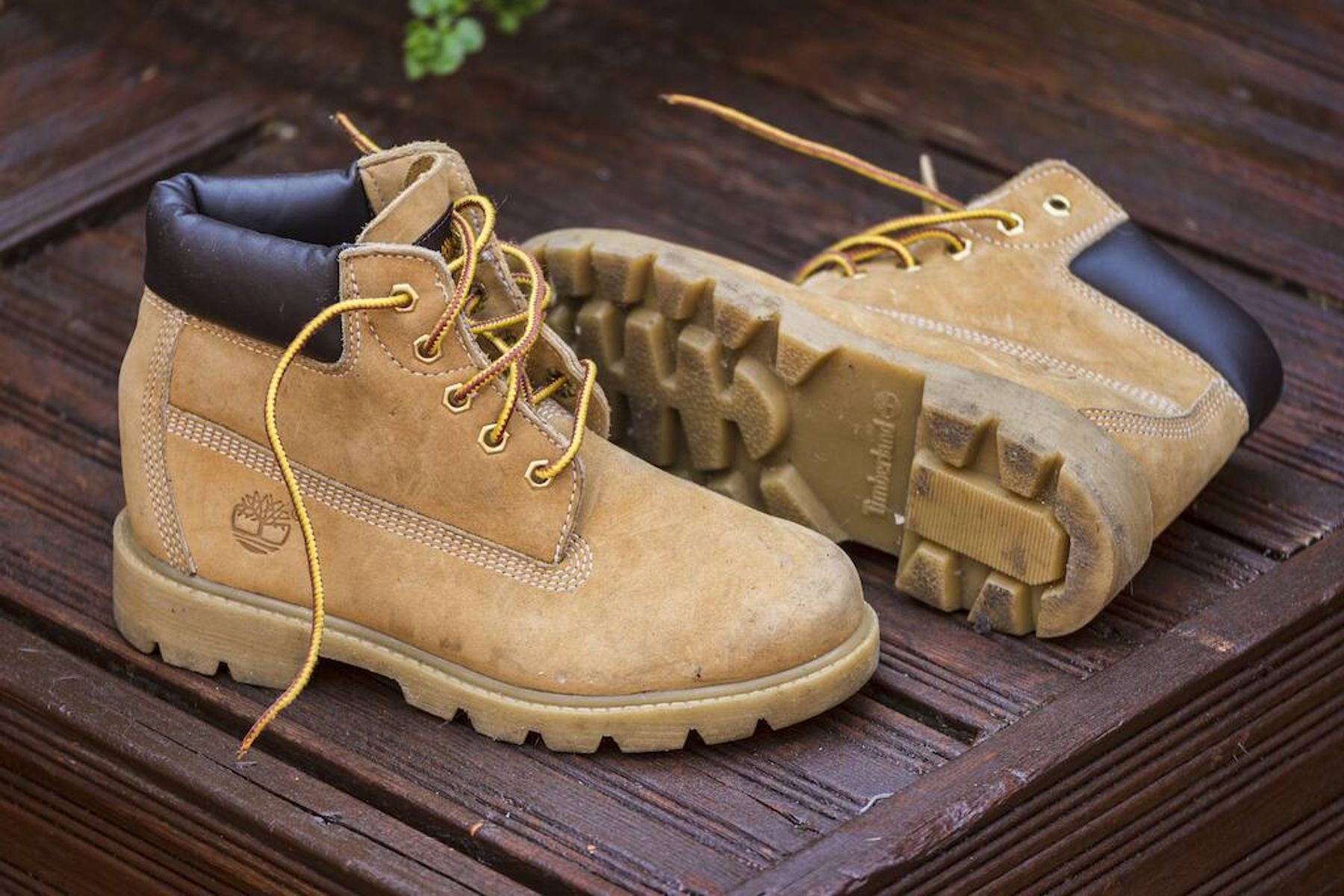 How to clean Timberlands: boots left outside
