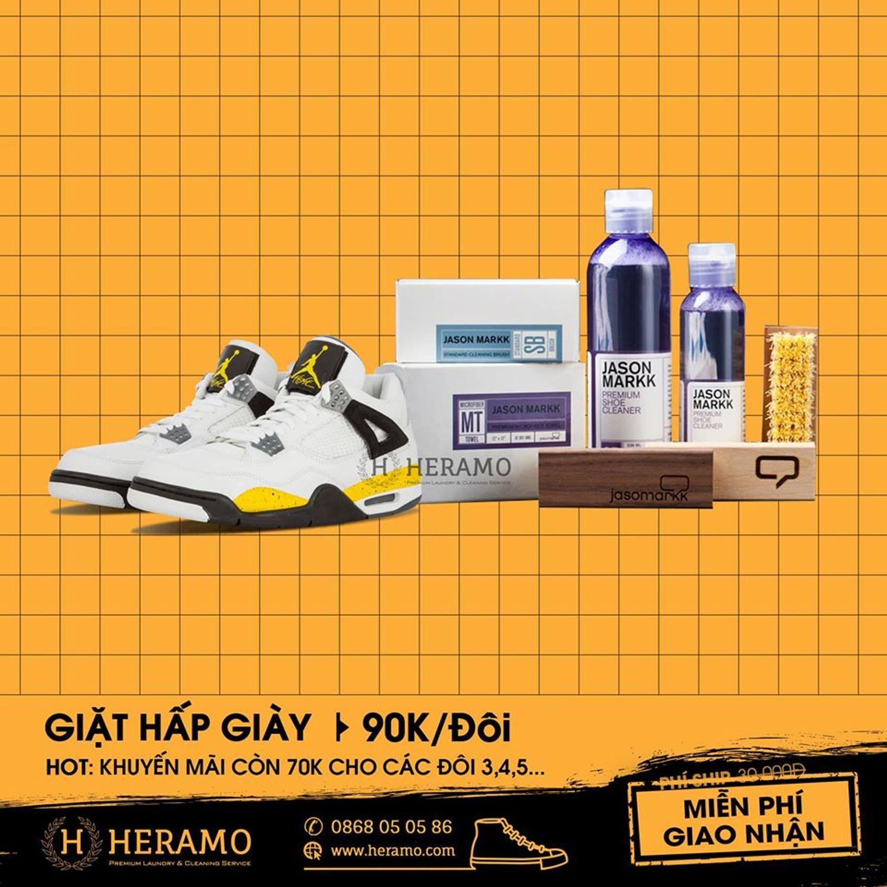 Dịch vụ vệ sinh giặt giày Heramo