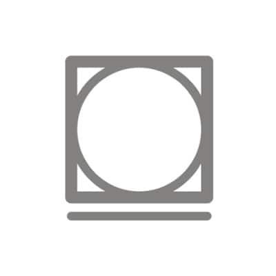 Symbol pro sušení v sušičce na program Nemačkavé