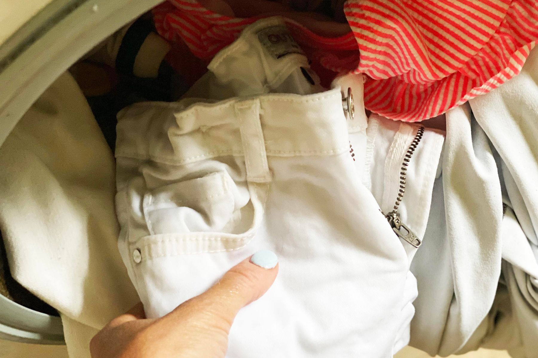 Step 4: Clothes into washing machine