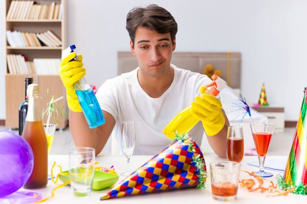 Simple steps for post-party clean-up