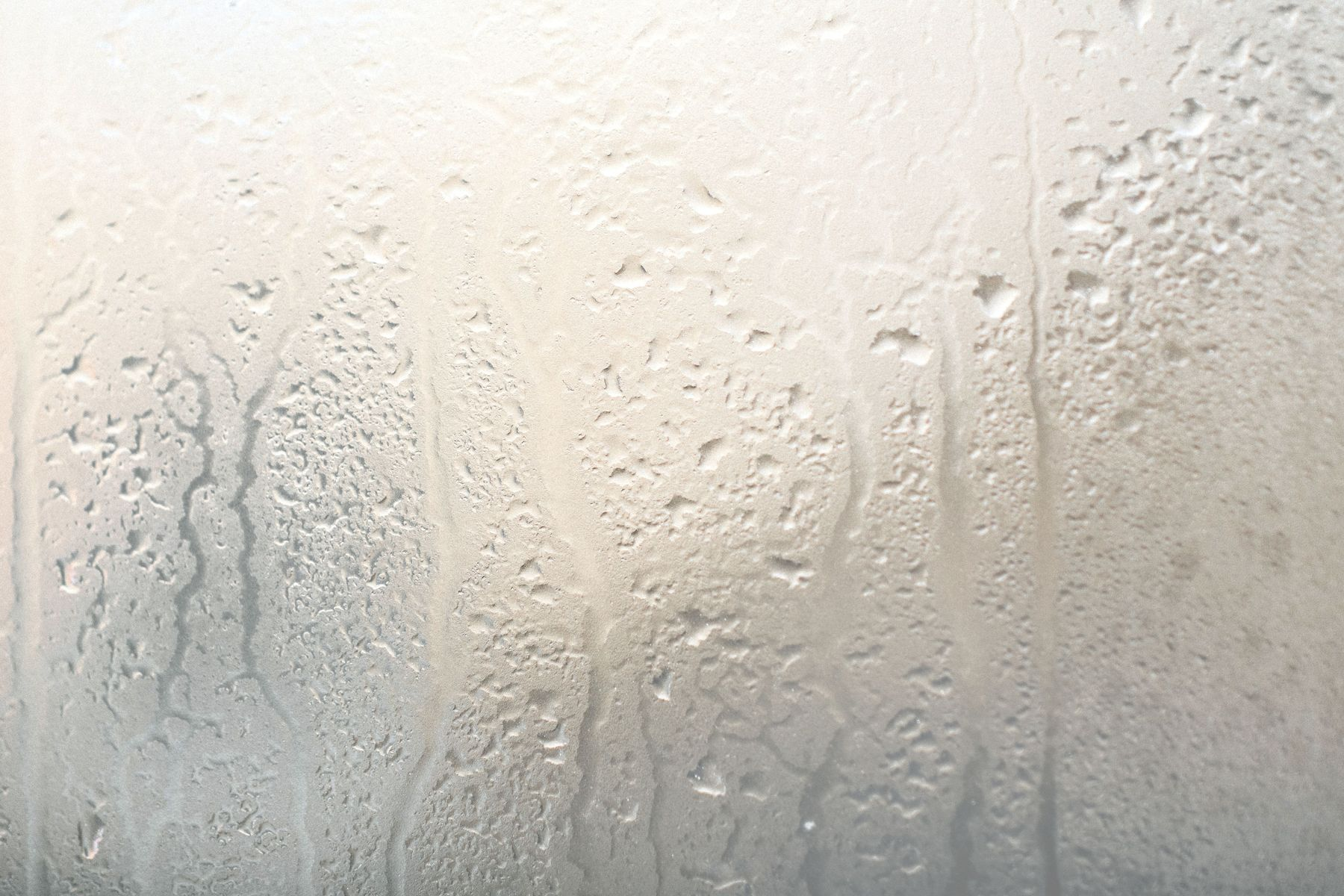 close up of condensation on windows