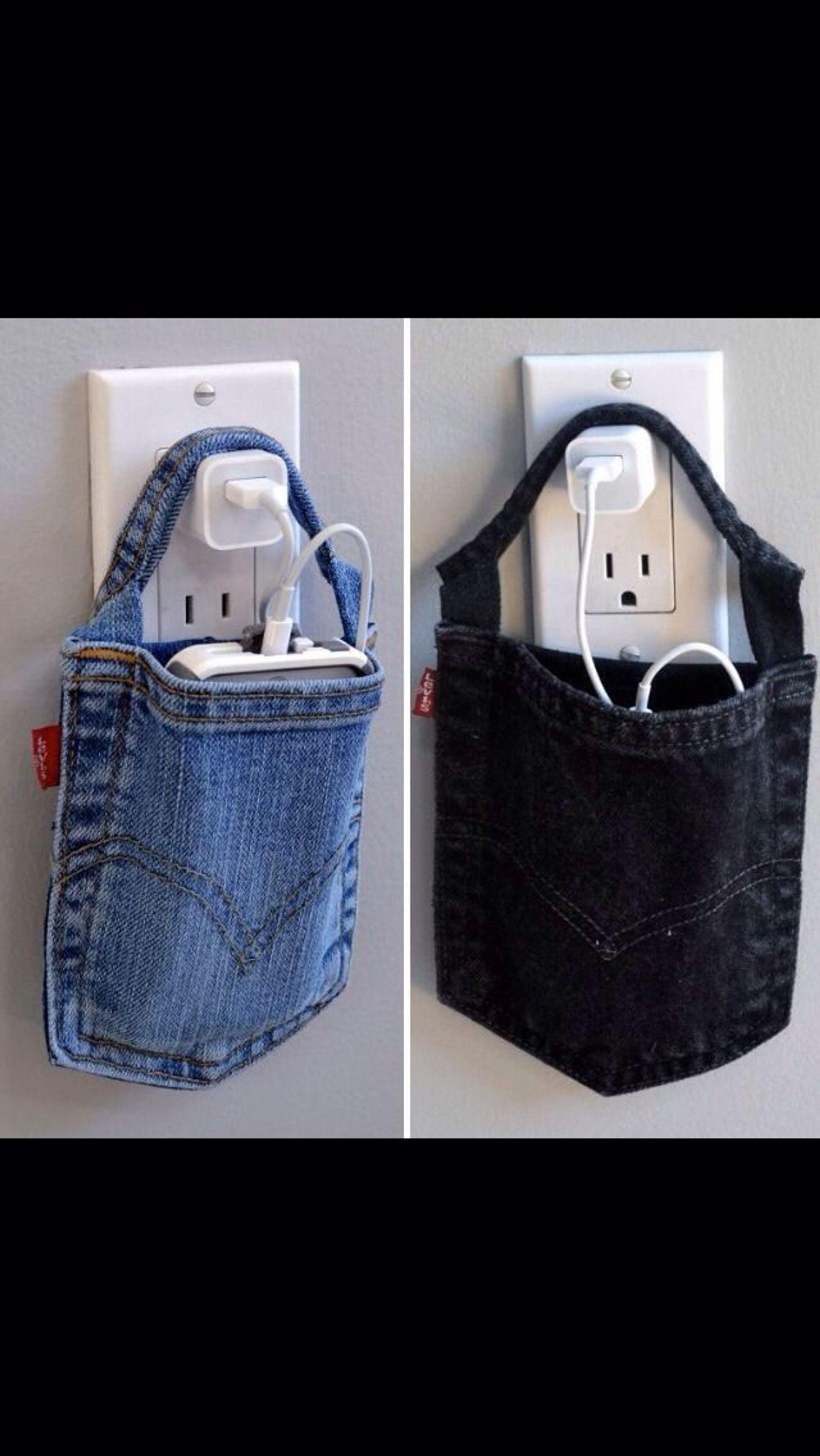 Làm túi đựng điện thoại với túi của quần jeans