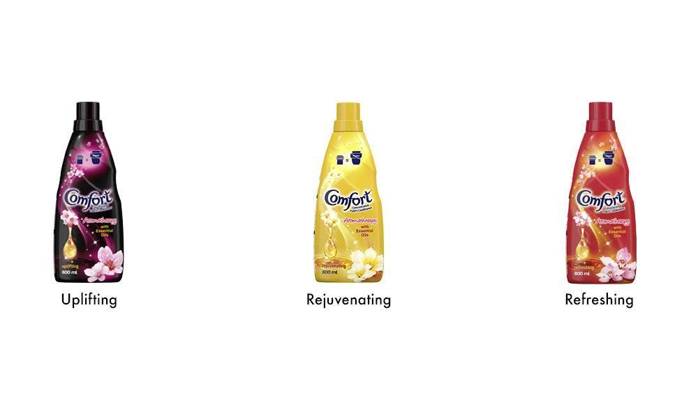 3 x Comfort Bottle Uplifting Rejuvinating Refreshing