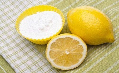 Tẩy tế bào chết cho da dầu bằng baking soda với chanh