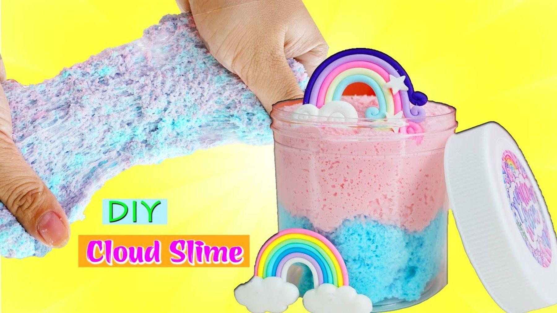 Cách làm slime mây