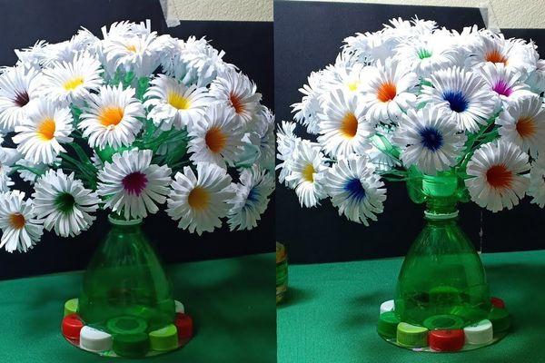 cách làm hoa bằng chai nhựa