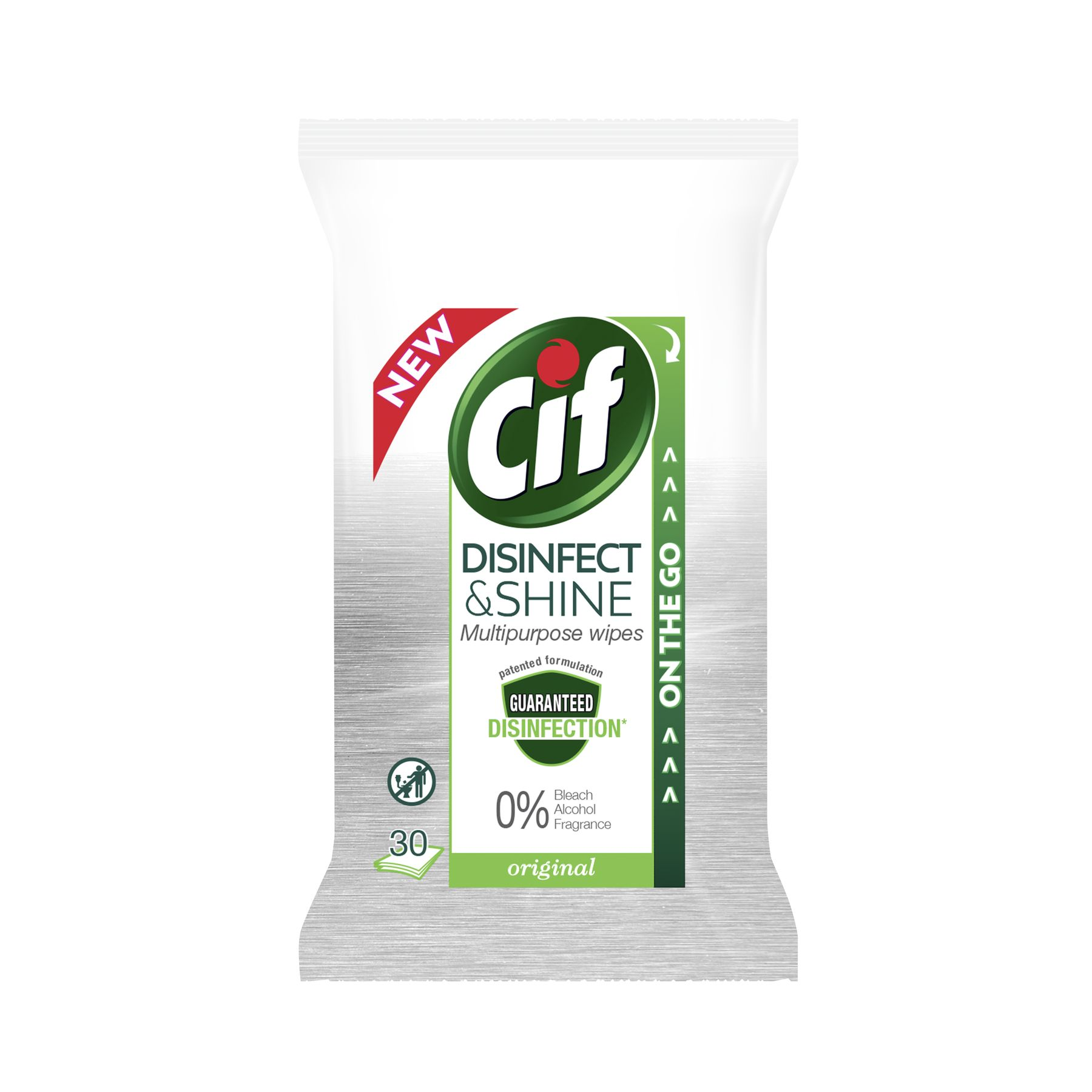 Cif Disinfect & Shine Multipurpose Original Wipes 30 doekjes