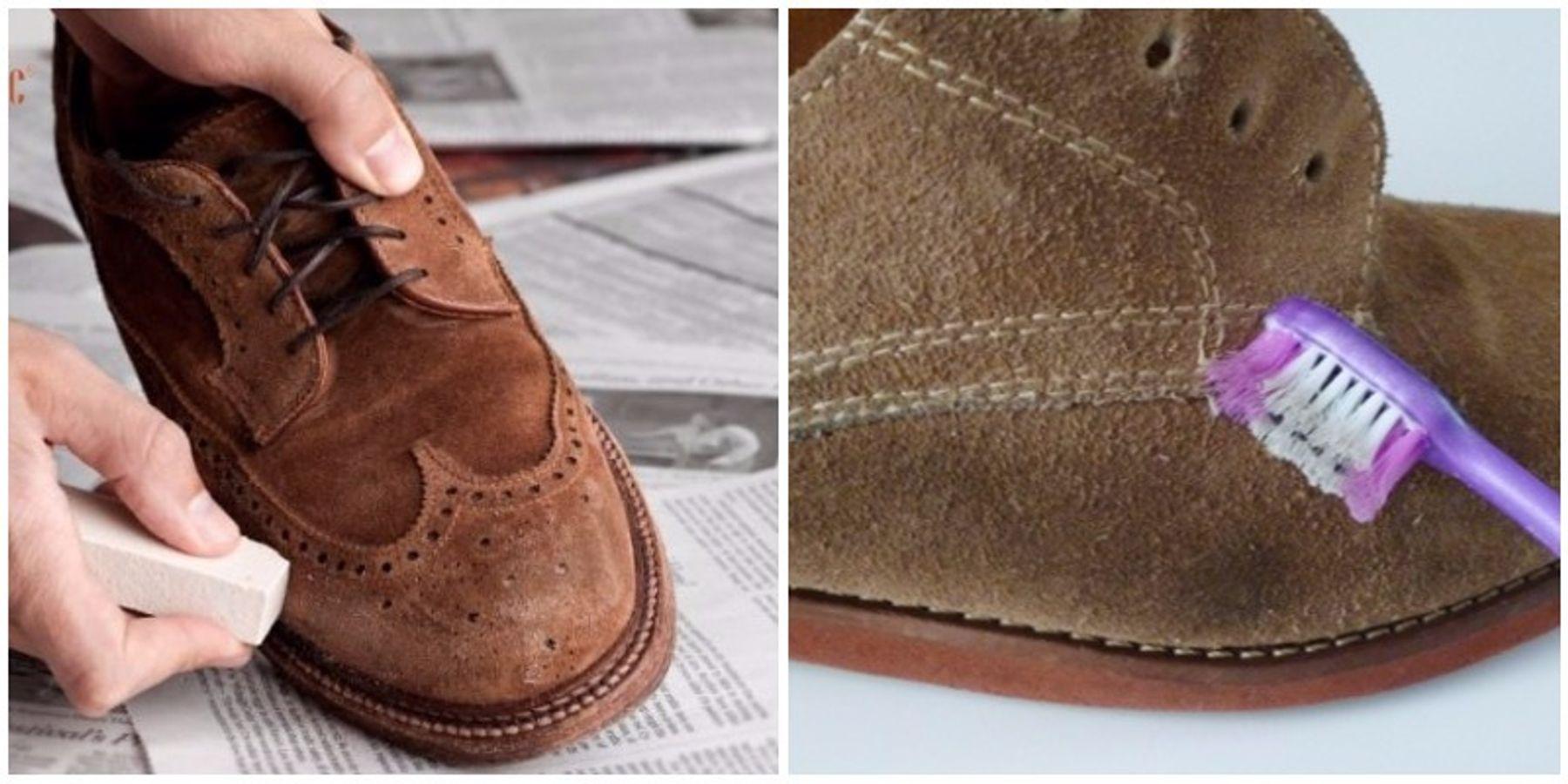 Lau chùi vết bẩn bám trên giày