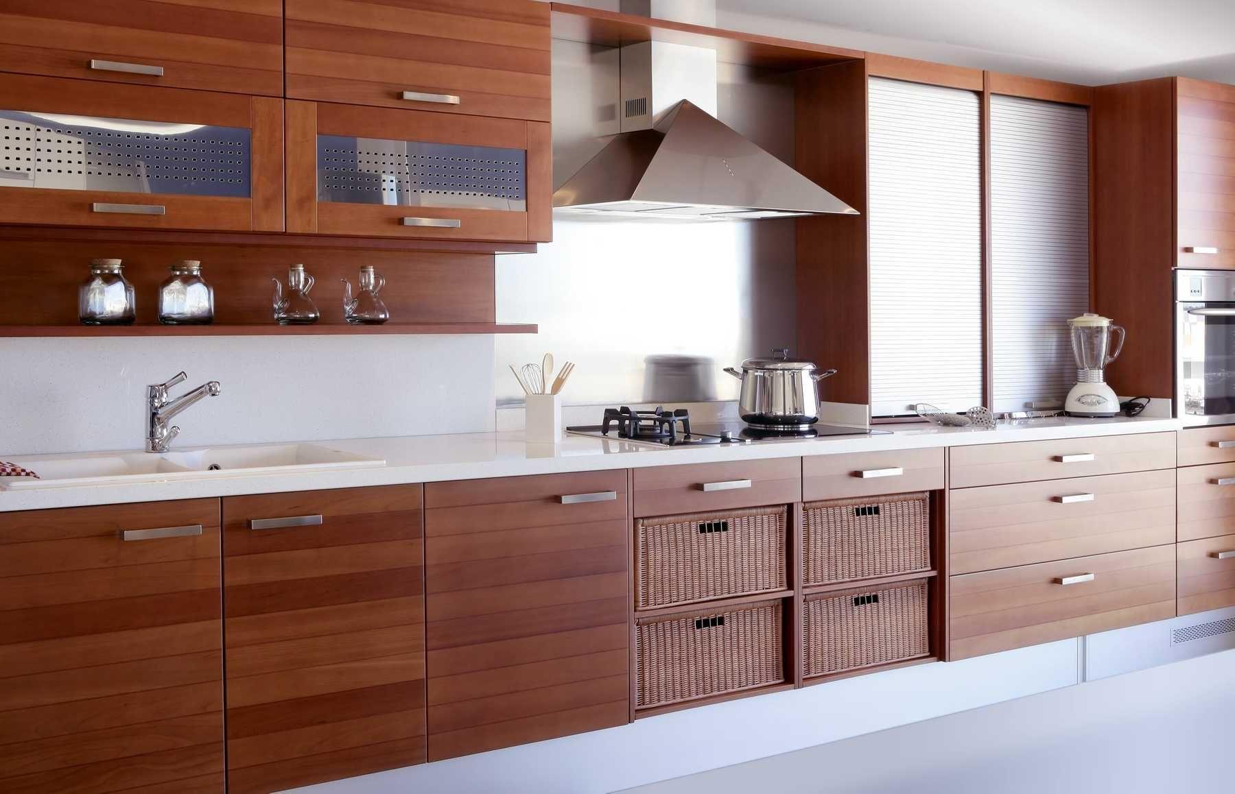 trang trí nhà bếp bằng nội thất gỗ