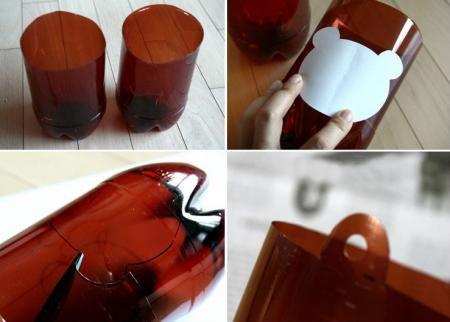Tái chế chai nhựa thành chậu hoa treo kệ sách