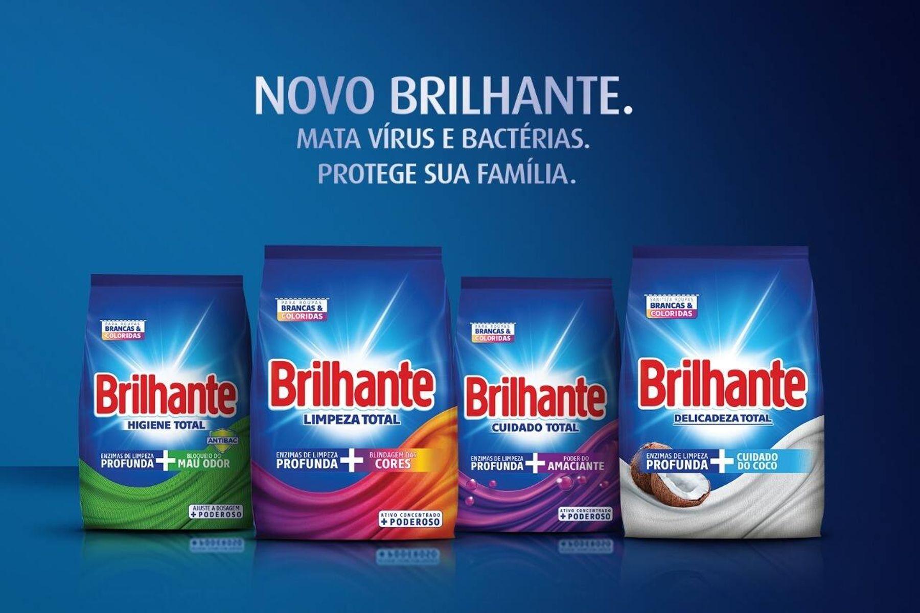 Nova linha de produtos Brilhante