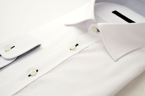 A neat, white, ironed shirt