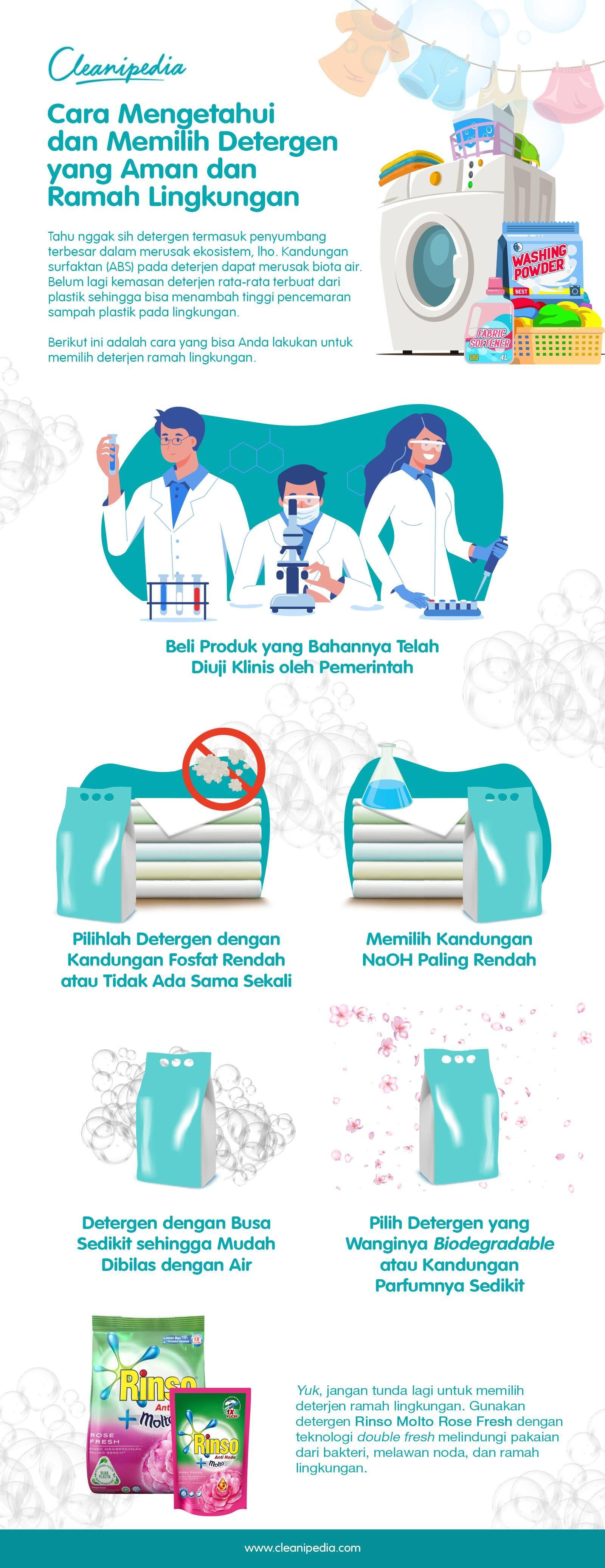 Cara Mengetahui dan Memilih Detergen yang Aman dan Ramah Lingkungan