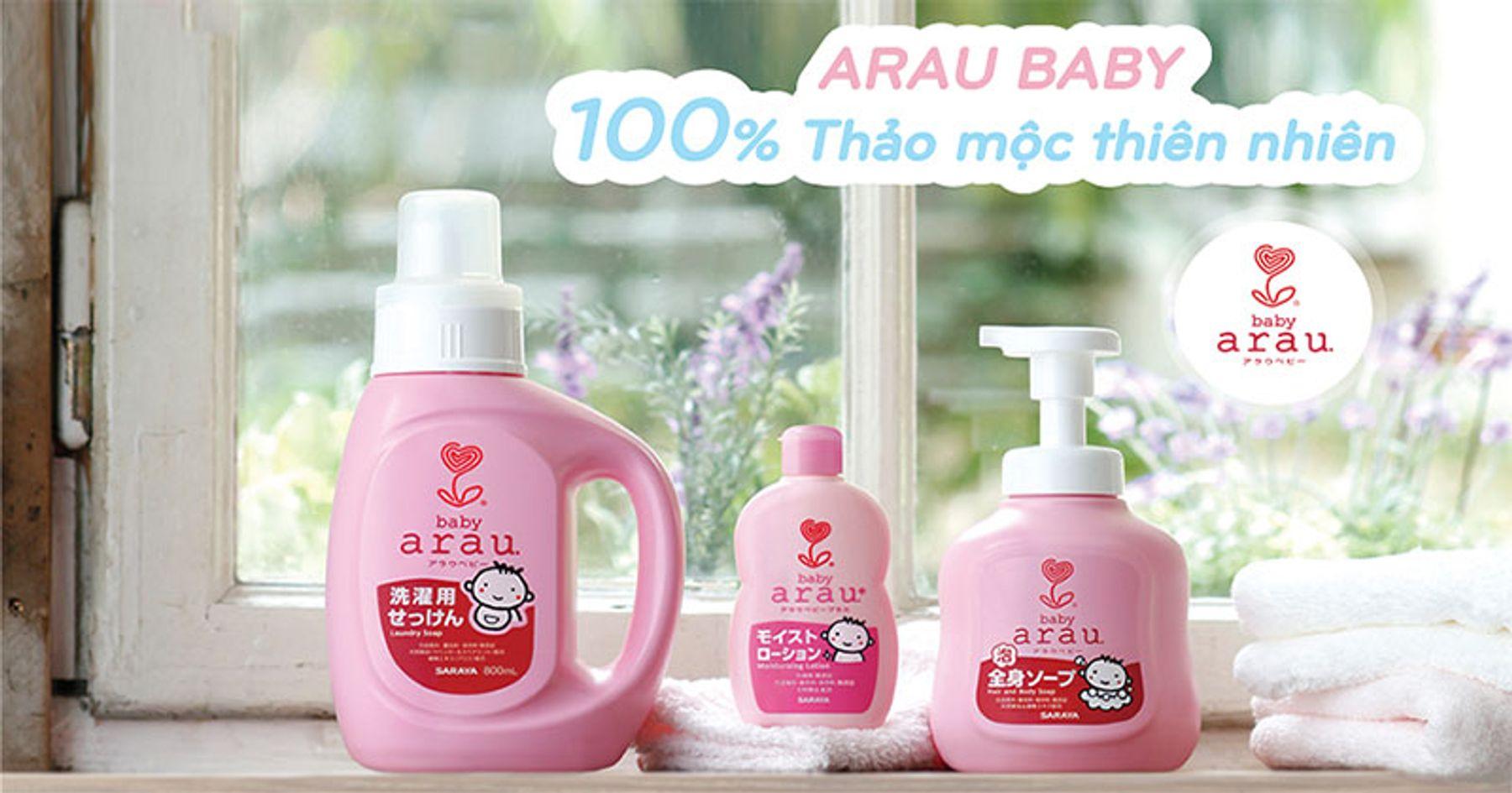 Nước giặt đồ cho em bé Arau
