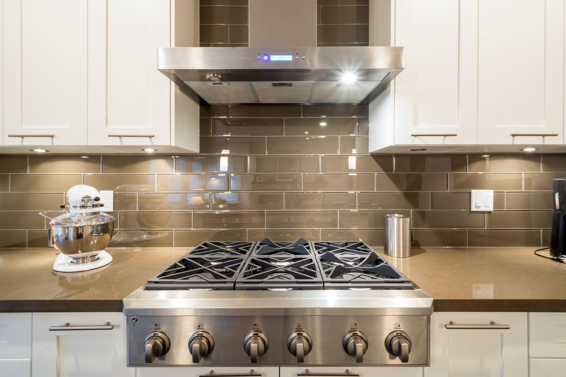 cooker hood in kitchen